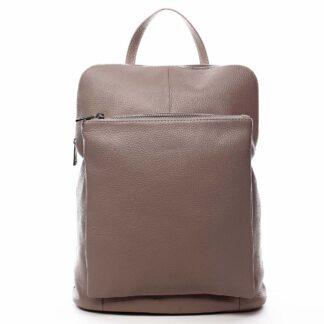 Dámský kožený batůžek kabelka starorůžový - ItalY Houtel růžová