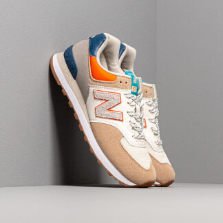 New Balance 574 Beige/ Blue/ Orange ML574NFT