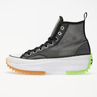 Converse Run Star Hike Hi Black/ White/ Ghost Green 167852C