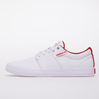 Supra Stacks Vulc II White/ Red-White 08029-148-M