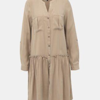 Vero Moda béžové košilové šaty Michalla