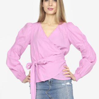 Vero Moda růžová halenka Silja s vázáním