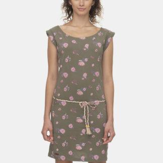 Ragwear khaki šaty Tamy Flowers