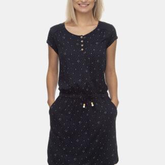 Ragwear tmavě modré vzorované šaty