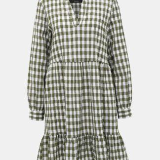 Vero Moda khaki kostkované šaty Kimi