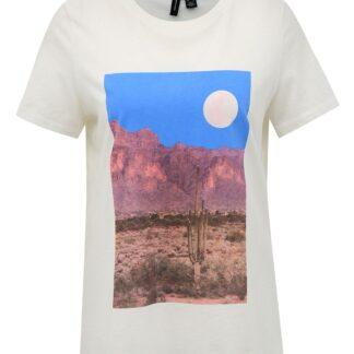 Vero Moda bílé tričko s potiskem Desert