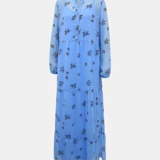 Vero Moda modré maxi šaty Lila