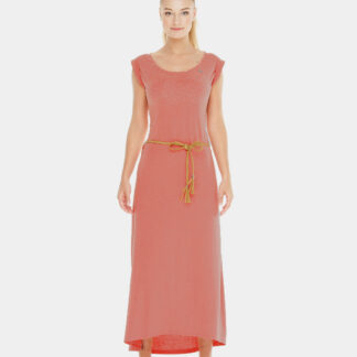 Ragwear růžové maxi šaty Tag