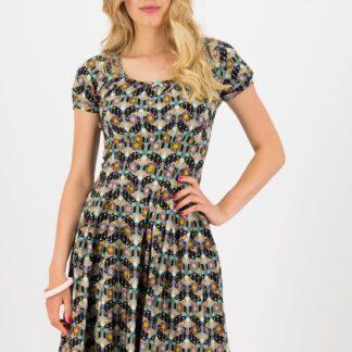 Blutsgeschwister vzorované šaty Sunset Boulevard