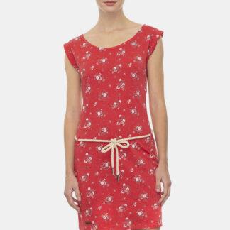 Ragwear červené květované šaty Tamy