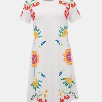 Desigual bílé šaty Dallas