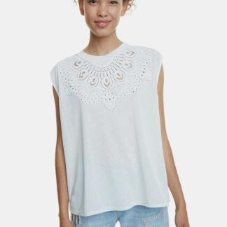 Desigual bílé tričko Budapest