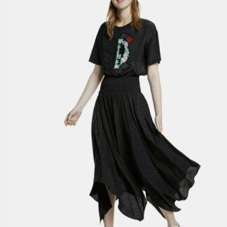 Desigual černé midi šaty Noosa