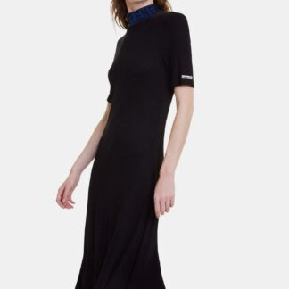 Desigual černé žebrované šaty Lauren