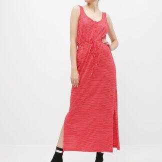 Vero Moda červené pruhované maxi šaty Daina