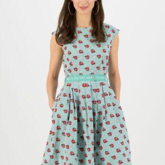 Blutsgeschwister zelenkavé šaty Tres Chic Chansonette