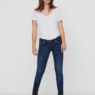 Noisy May modré skinny džíny Eve s nízkým sedem