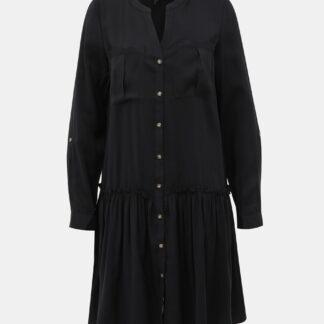 Vero Moda černé košilové šaty Michalla