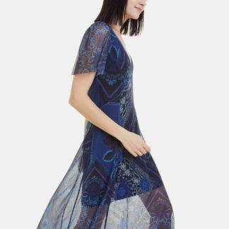 Desigual modré midi šaty Terry