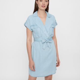 Noisy May světle modré košilové šaty Vera