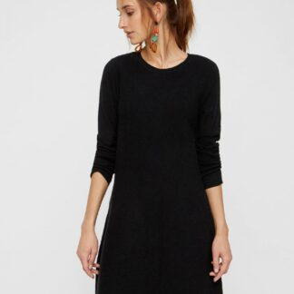 Vero Moda černé šaty s dlouhým rukávem Nancy