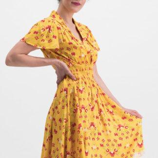 Blutsgeschwister žluté šaty Sweet Mariandl