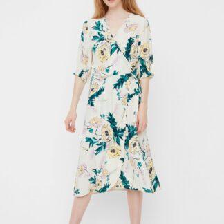 Vero Moda bílé květované šaty Oline