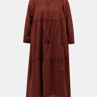 Vero Moda hnědé maxi šaty Ollie