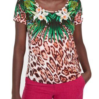 Desigual dámské tričko TS Jungle s barevnými motivy