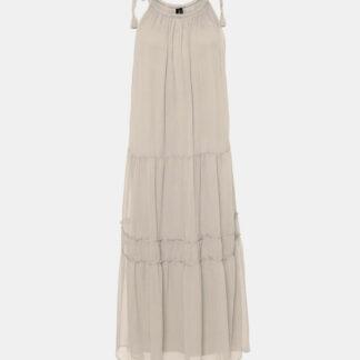 Vero Moda smetanové/krémové maxi šaty Penelope