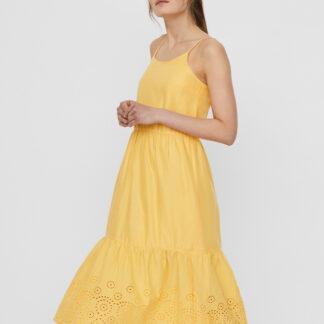 Vero Moda žluté letní šaty