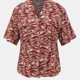 Alcott červená vzorovaná košile