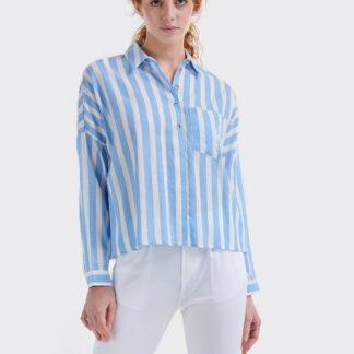 Alcott modro-bílá pruhovaná košile