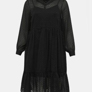 Zizzi černé šaty s dlouhým rukávem