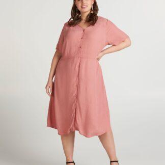 Zizzi růžové košilové šaty