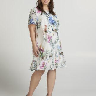 Zizzi smetanové šaty s květinovým motivem