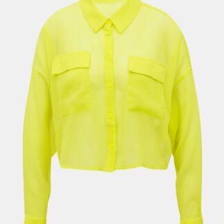 Noisy May žlutá transparentní košile Neno