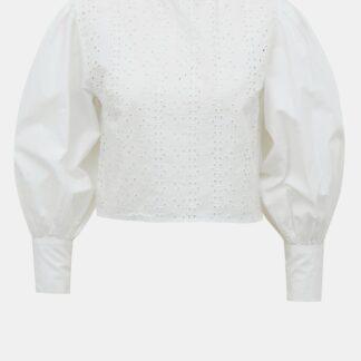 Tally Weijl bílá krátká halenka s madeirou