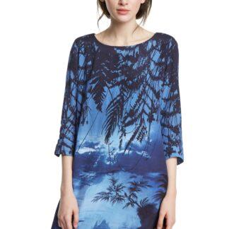 Desigual modré šaty Vest Bruna