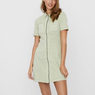 Noisy May světle zelené denimové šaty Lisa