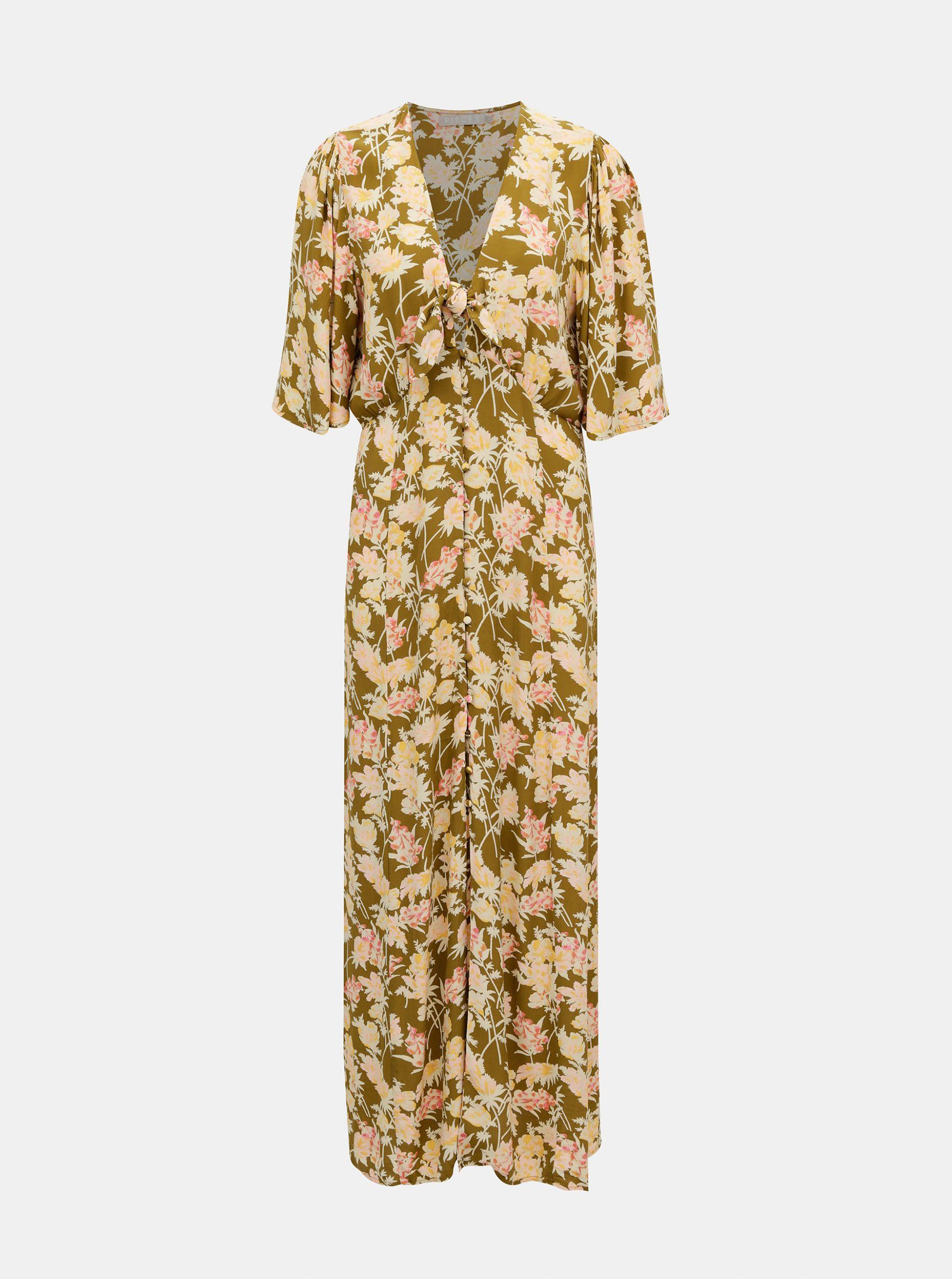 Pieces květované maxi šaty Polly