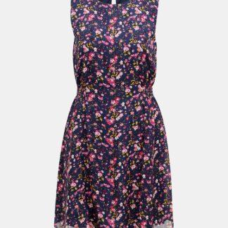 Vero Moda modré květované šaty