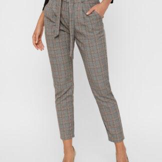 Vero Moda šedé kostkované kalhoty