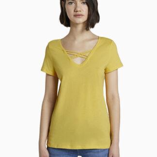 Tom Tailor Denim žluté tričko
