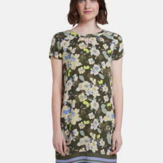 Tom Tailor zelené květované šaty