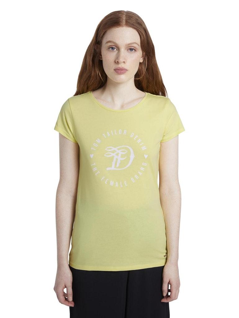 Tom Tailor Denim světle žluté tričko s logem