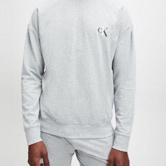 Calvin Klein šedá pánská mikina L/S Sweatshirt