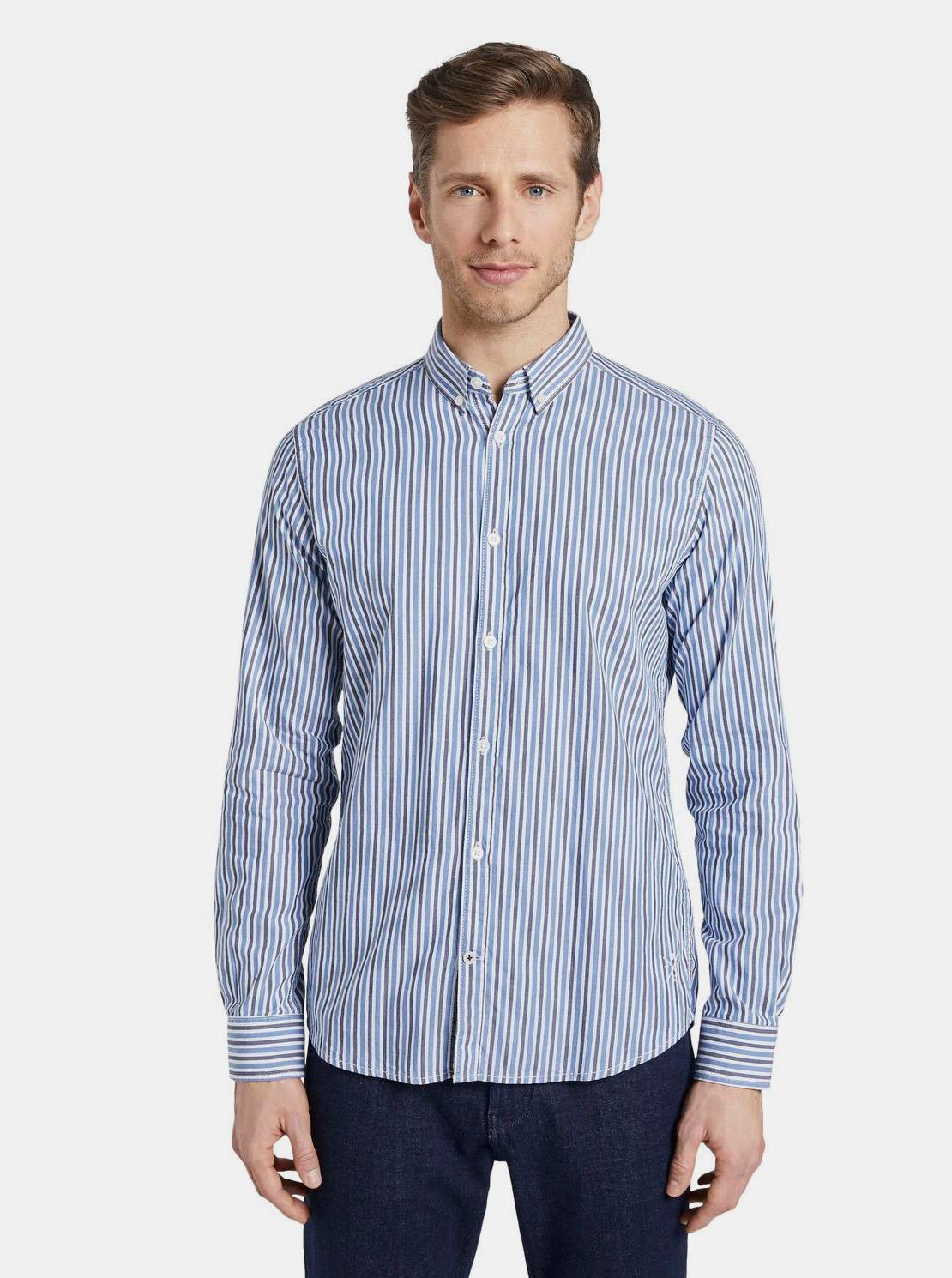 Tom Tailor modrá pruhovaná košile