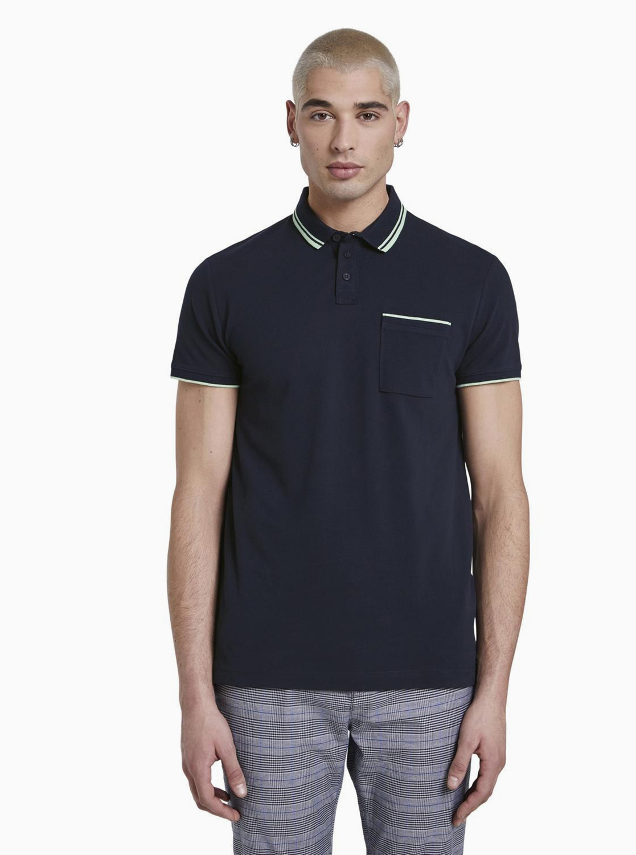 Tom Tailor Denim modré pánské tričko