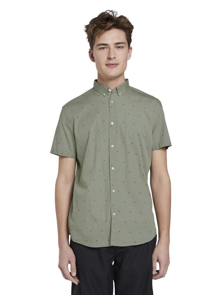 Tom Tailor Denim zelené pánská košile
